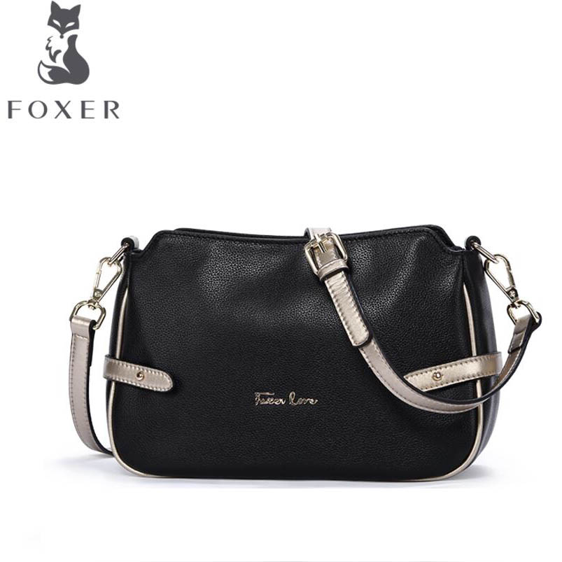 free delivery Cow leather handbag  FOXER Europe and the United States small package 2017 new messenger bag Leather shoulder bag yuanyu 2018 new hot free shipping python leather handbag leather handbag snake bag in europe and the party hand women bag
