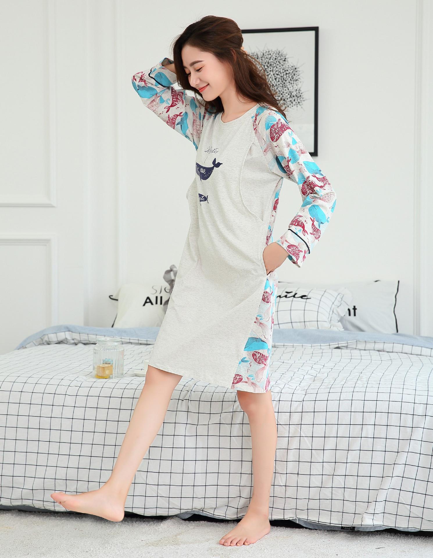 Maternity Clothes Maternity Dress Maternity Sleepwear Breastfeeding Lounge Nursing Pajamas Pregnant Women Pajama Pregnancy Dress