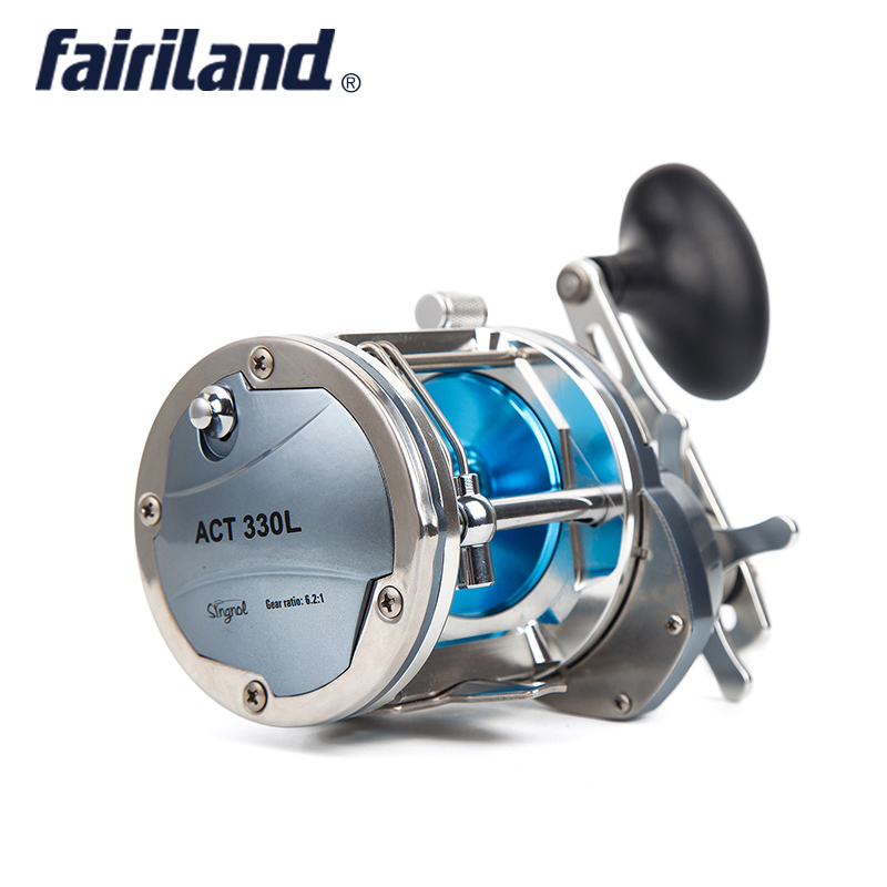 Fairiland 6.2:1 4BB Full Metal Boat Fishing Reel 25kg Drag Power Drum Trolling Reel Right/Left Hand Available Sea Fishing Reel 4bb right hand 4 1 1 fairiland drum trolling reel 18kg drag power boat fishing reel 2 colors 30a b avail saltwater freshwater