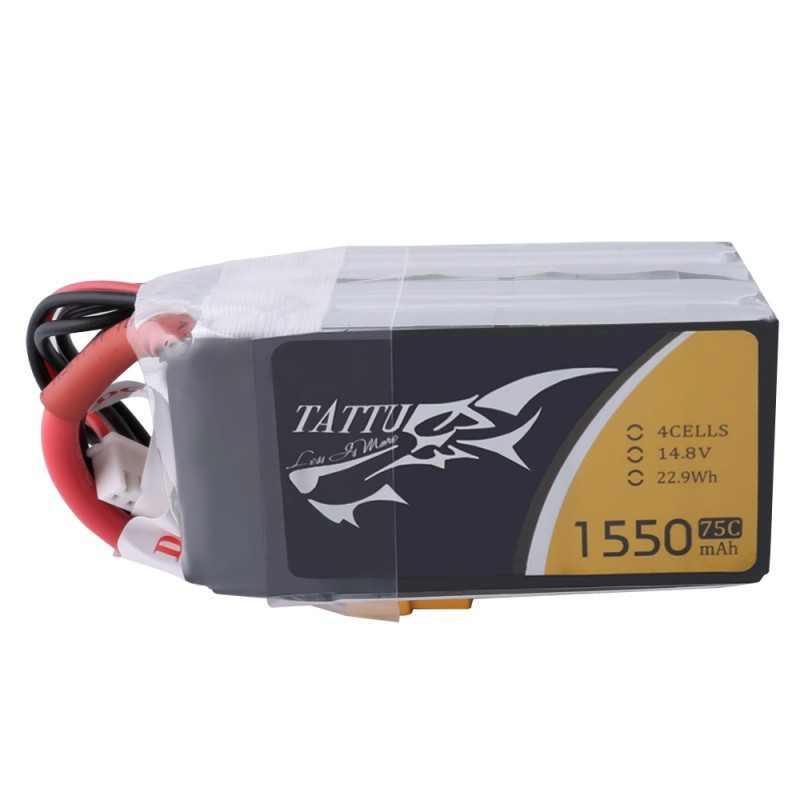 TATTU 14.8V 1550mAh 75C 4S 1P Lipo Battery XT60 Plug for Skylark M4-FPV250 Mini Shredder 200 Aircraft Airplane RC Drone Quad Toy