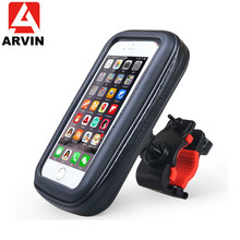 ARVIN Waterproof Motorcycle Bicycle Mobile Phone Holder Stand Bag For iPhone X 8 Sansung Handlebar Support GPS Mount