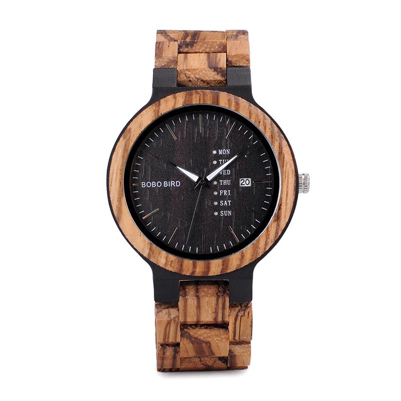 Zegarek drewniany Bobo Bird Data Dark O26-2 9