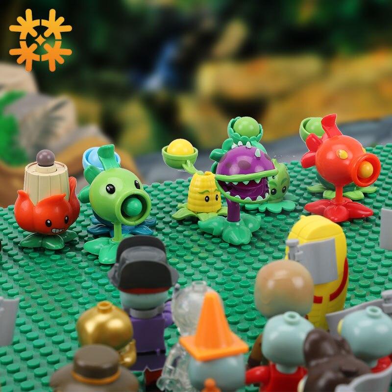 Plantas vs figuras de zombis bloques de construcción PVZ figuras de acción juegos de rol batalla juguetes de aprendizaje para niños colección para adultos Modelo de coche de aleación fundido a presión 1:24 DMC-12 delorean volver al futuro tiempo máquina de Metal coche de juguete para la colección de regalos de juguete para chico
