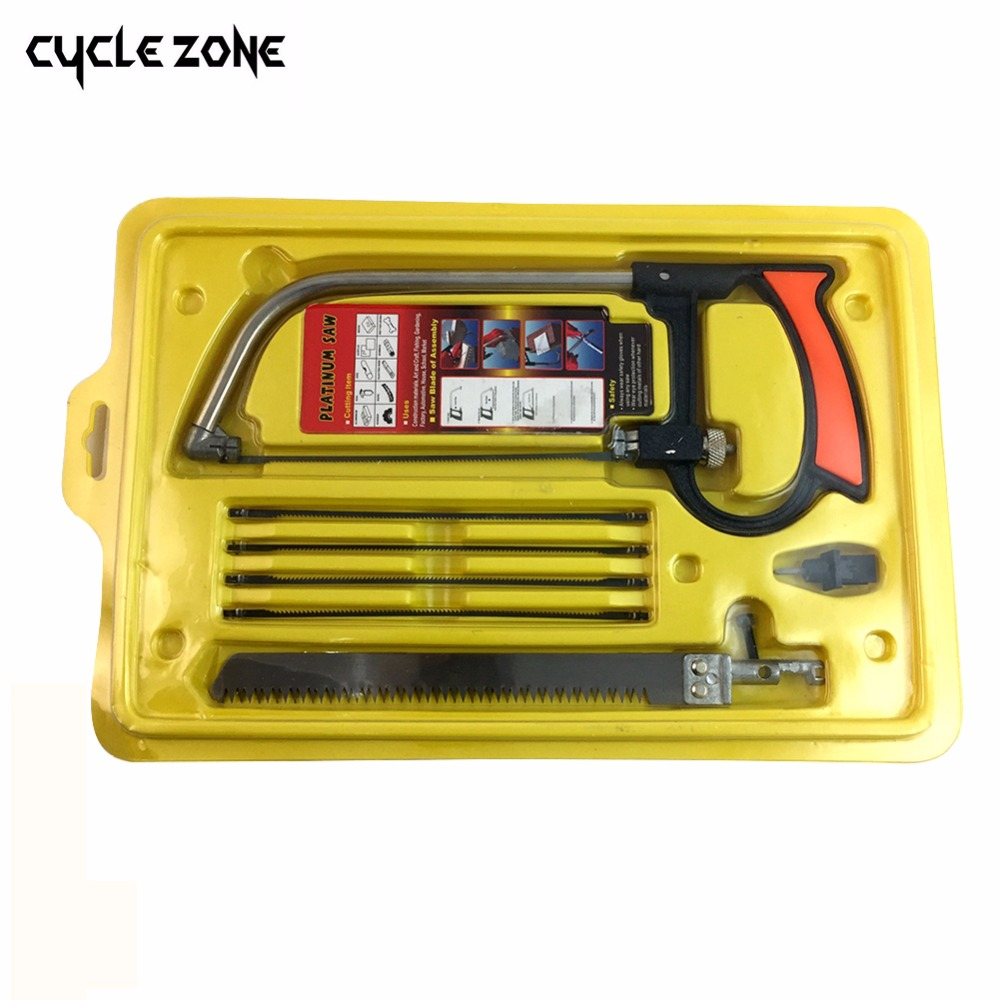8 in 1 Magic Saw Multi Purpose Hand DIY Steel Saw Metal Wood Glass Saw Kit 6 Blades Woodworking Metalworking Model Hobby Tool