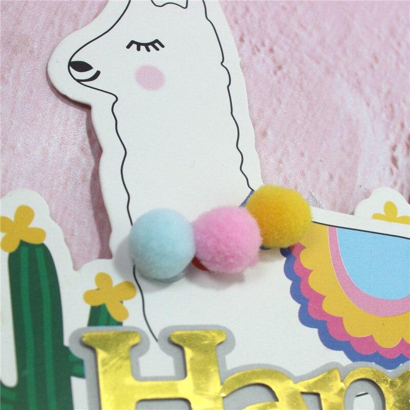 Omilut-LLama-Alpaca-Cake-Decoration-1th-One-Alpaca-Cake-Topper-Birthday-Party-Cake-Topper-Supplies-Alpaca (4)