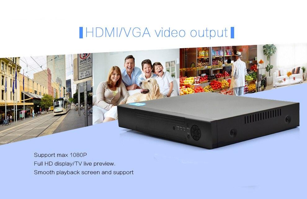 Wistino 1080P 4pcs IP Camera CCTV Security System Kit Night Vision 8CH NVR Recorder Surveillance Monitor Kits H.265 XMeye 720P 960P (16)
