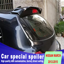 цена на 2012 2013 2014 2015 Car Rear Wing unpaint Color Rear window wing Spoiler For Nissan March Spoiler by primer paint march spoilers