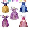 New 2016 Fairy Tales Cinderella Snow White Rapunzel Sleepy Beauty Cosplay Costumes Princess Dress Costumes Baby Girl Dresses