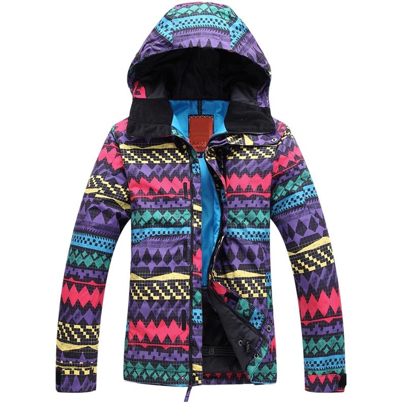 Veste de Ski femme coupe-vent imperméable vestes de Ski vestes de Snowboard vêtements de Ski de neige marque