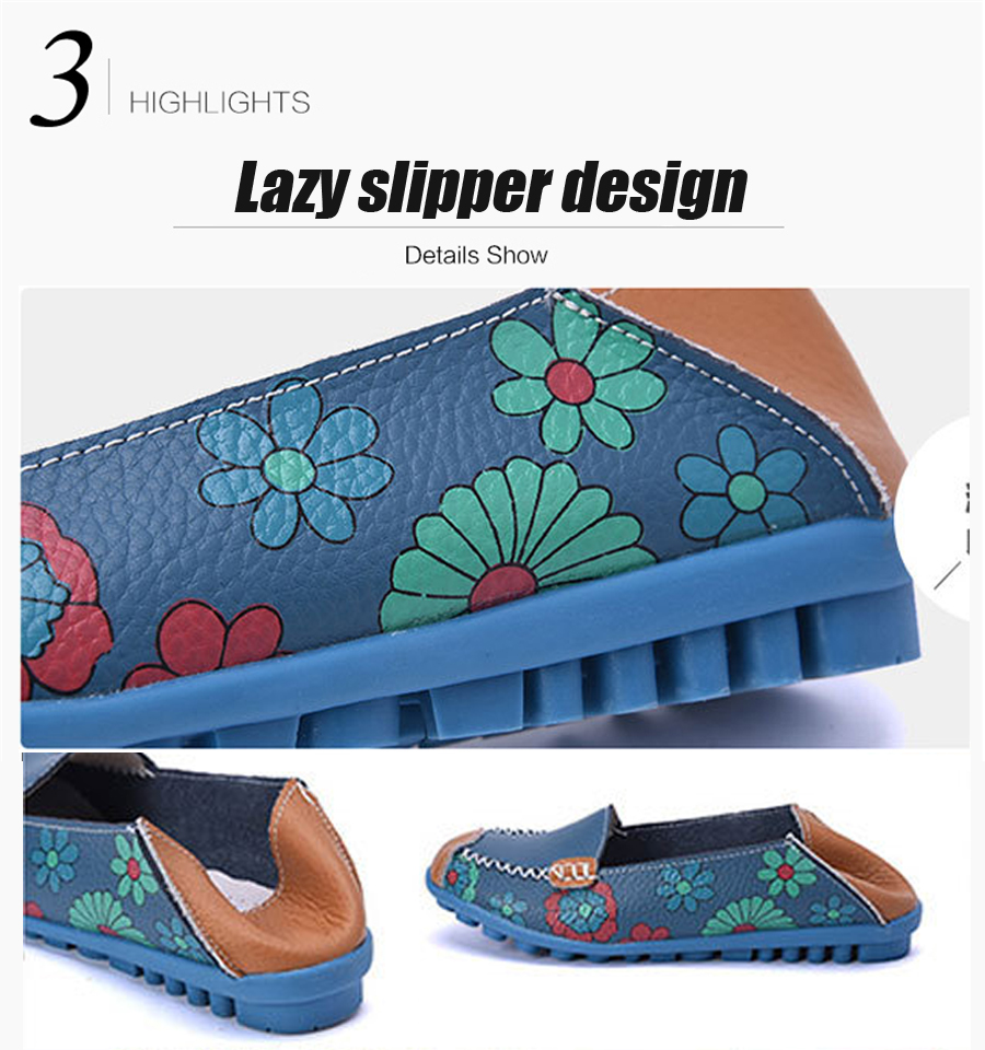 STS BRAND New Spring Women Genuine Leather Ballet Flats Casual Shoes Women Round Toe Slip On Flats Female Loafers Ballerina shoe (4)