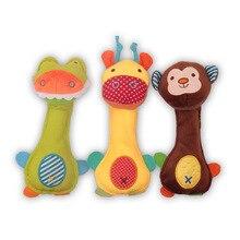 2016 Baby Rattle Toys Animal Hand Bells Plush Baby Toy High Quality Newbron Gift Christmas Animal elephant/monkey/lion/rabbit