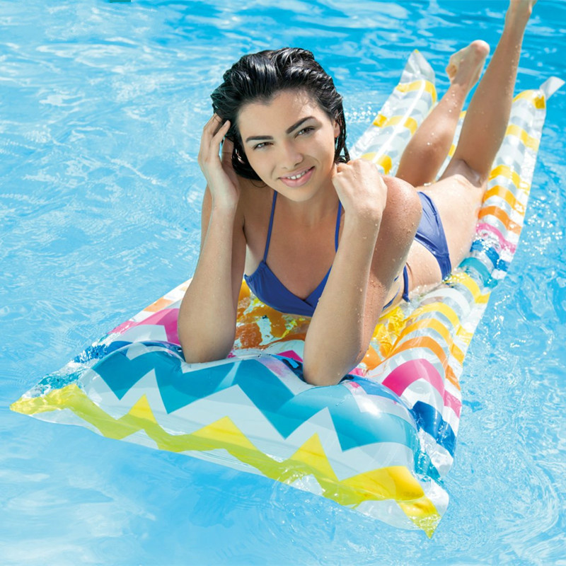 Single Floating Bed  Floating Adult Swimming Board Thickening Overwater Inflatable Bed