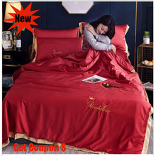 Light extravagant 3 or 4pcs silk summer quilt sets single pc cool air conditioner pillowcase bed sheet