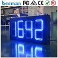 Leeman 5 дюймов из светодиодов цифровой часы дисплей полутвердая на открытом воздухе из светодиодов время и отображение температуры из светодиодов часы 7 сегмент из светодиодов знак