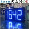 Leeman led relógio digital de 5 polegada preço baixo semi ao ar livre led e relógio led de 7 segmentos led