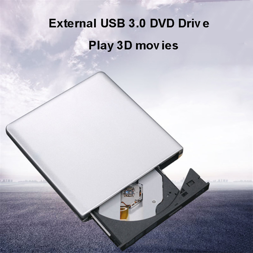 Blu-ray Player External USB 3.0 DVD/CD ROM Drive Play 3D Movies BD-ROM CD/DVD Burner Writer Recorder For Laptop Computer PC new remote control suitbale for panasonic 3d blu ray dvd player controller n2qayb000713