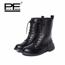 Pathfind new women ankle pu Leather waterproof Tooling military boots womens 2019 Outdoor snow shoes plus size 35-42