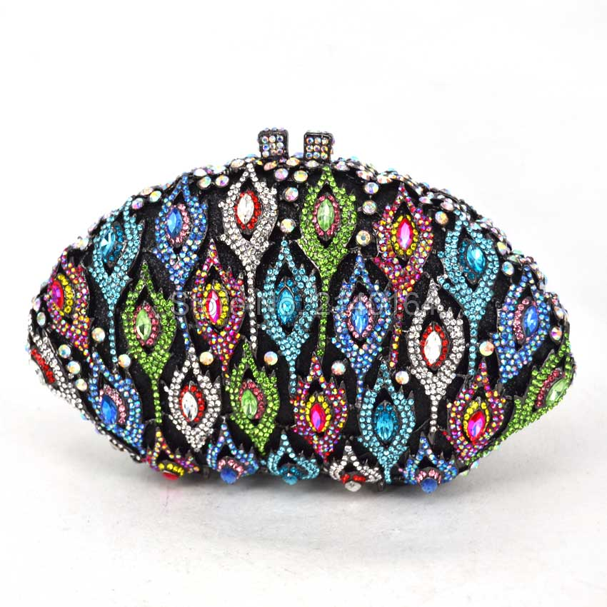 Colorful eyes crystal Dinner Bag Flower clutch party purse metal & Crystal & PU leather Rhine hollow stone bag 88388Colorful eyes crystal Dinner Bag Flower clutch party purse metal & Crystal & PU leather Rhine hollow stone bag 88388