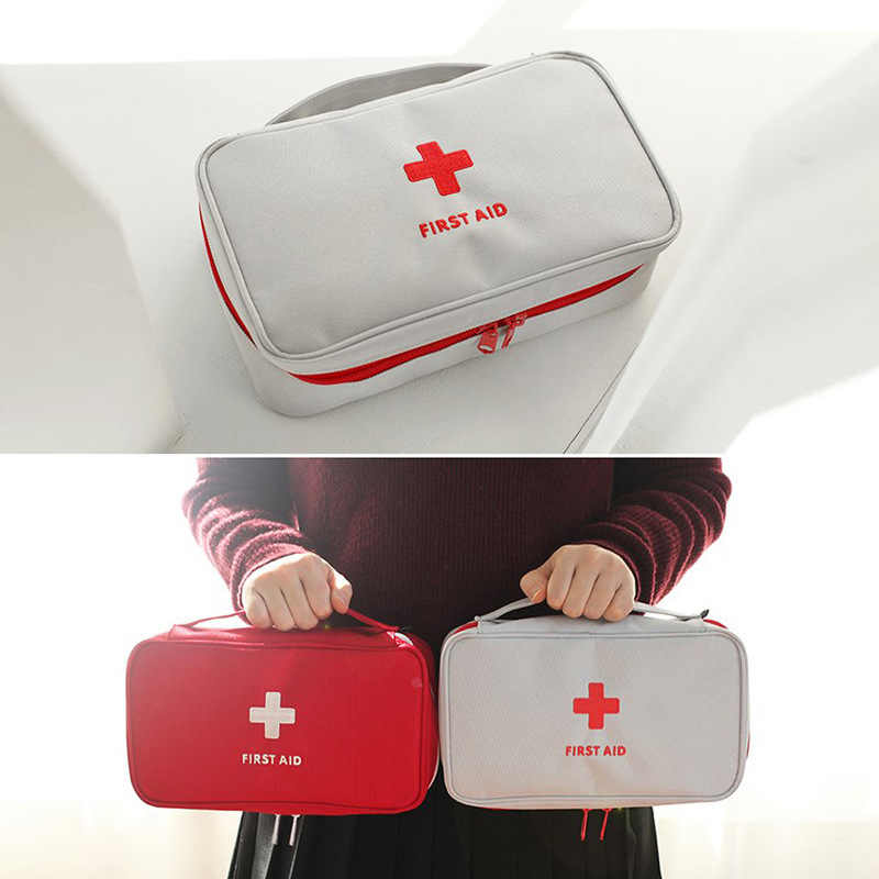 Multifunctional Emergency Storage Bag Travel Outdoor Portable Handheld Medical Bag First Aid kit Pattern Medicine Storage Bins