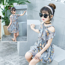 2019 Summer Girl Dress Floral Butterfly Lovely Party Girl Dress Kids Clothes Baby Dresses Girl Princess Casual Children Clothing цена в Москве и Питере