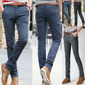 Мужчины лето демин натяжных свободного покроя брюки стрейч хлопок свободного покроя брюки уменьшают подходящий размер 28-38 4 цвета мужская одежда