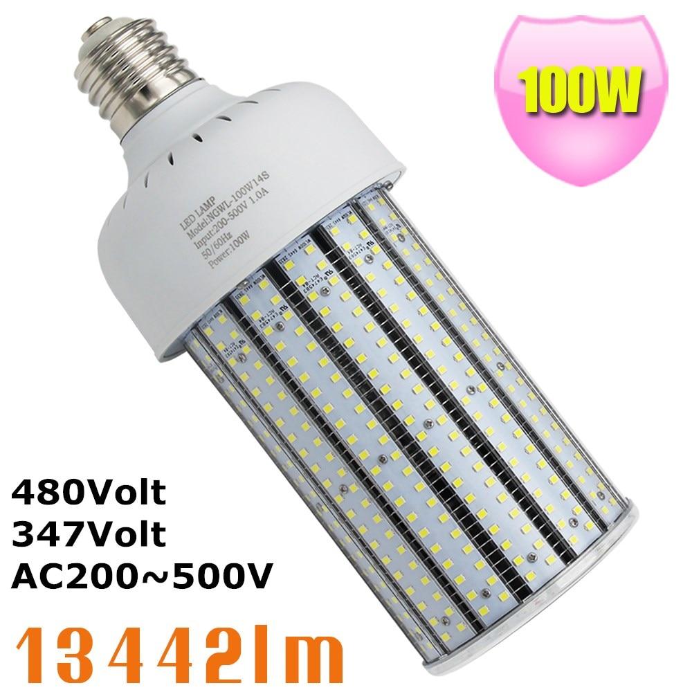 400W Metal Halide Replacement LED 100W Corn Cob 480V E39