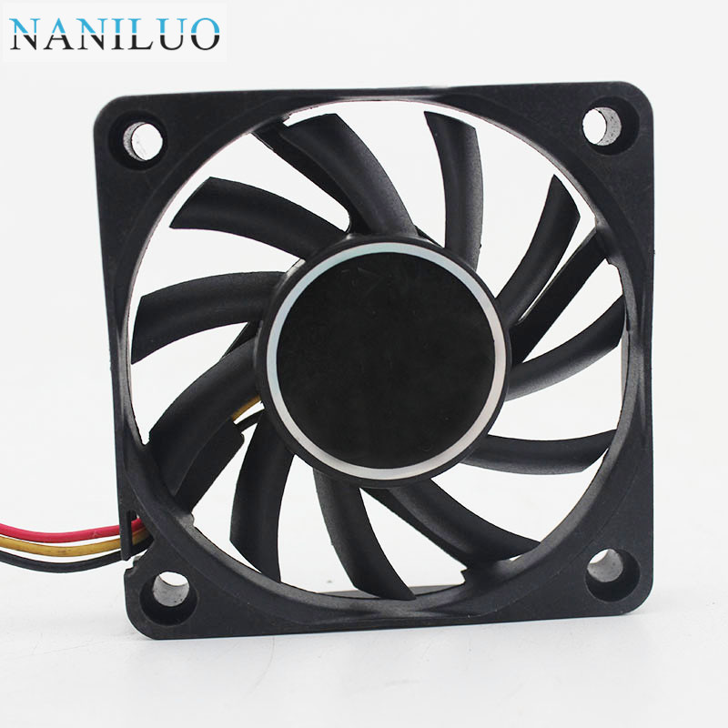FD126010LB 6cm 60mm 6010 12V 0.14A Ball Bearing Computer CPU 3pin Silent Cooling Fan