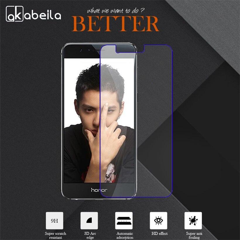 Akabeila Гладкий закаленное Стекло для Huawei Honor 8 Honor8 5.2 дюймов ультра тонкий Экран Huawei Honor 8 Honor8 телефон Стекло плёнки
