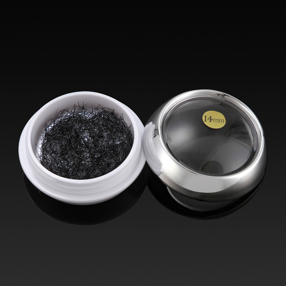 2 Pote Preto Cílios Postiços Onda C Espessura 0.15/0.2 Duração 8/10/12/14mm Natural Individual Cílios Extensão Maquiagem Tool