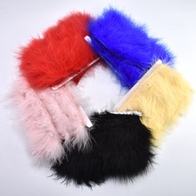 wholesale crafts fluffy Marabou feathers ribbon trimming for Clothing 5-8cm natural feather  DIY home party decorative