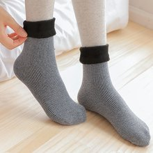 Winter Wamer Women Thicken Thermal Wool Cashmere Snow Velvet Socks Seamless Velvet Boots Floor Sleeping Socks Female(China)