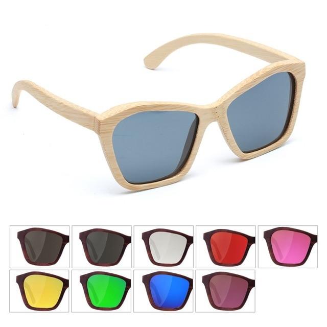 67f60a7ade Maskros Grande De Madera Gafas de Sol Hombres Mujeres Lentes de Espejo  Shades Gafas de Sol
