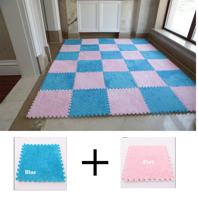 Soft EVA Foam Short Fur Puzzle baby play mat Interlock Floor Mat ...