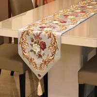 European Style 320x210cm Tassels Flower Table Runner Table Decoration for Home Party Wedding Christmas Decor camino de mesa