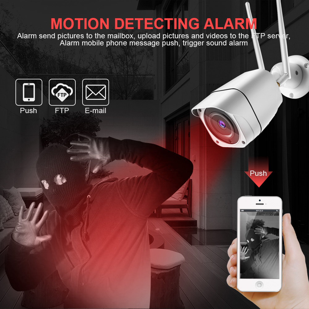 Image 4 - 3G 4G SIM Card Camera HD 1080P 5MP Wireless Outdoor Security Camera Bullet CCTV Audio IR 20M P2P Trigger Sound Alarm APP CamHi-in Surveillance Cameras from Security & Protection