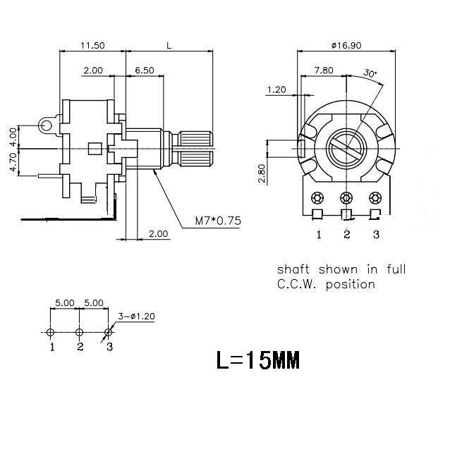 Potentiometer wiring diagram potentiometer wiring diagram unique free shipping 10pcs stereo b50k ohm linear taper volume control rhaliexpress potentiometer wiring diagram stereo swarovskicordoba Gallery