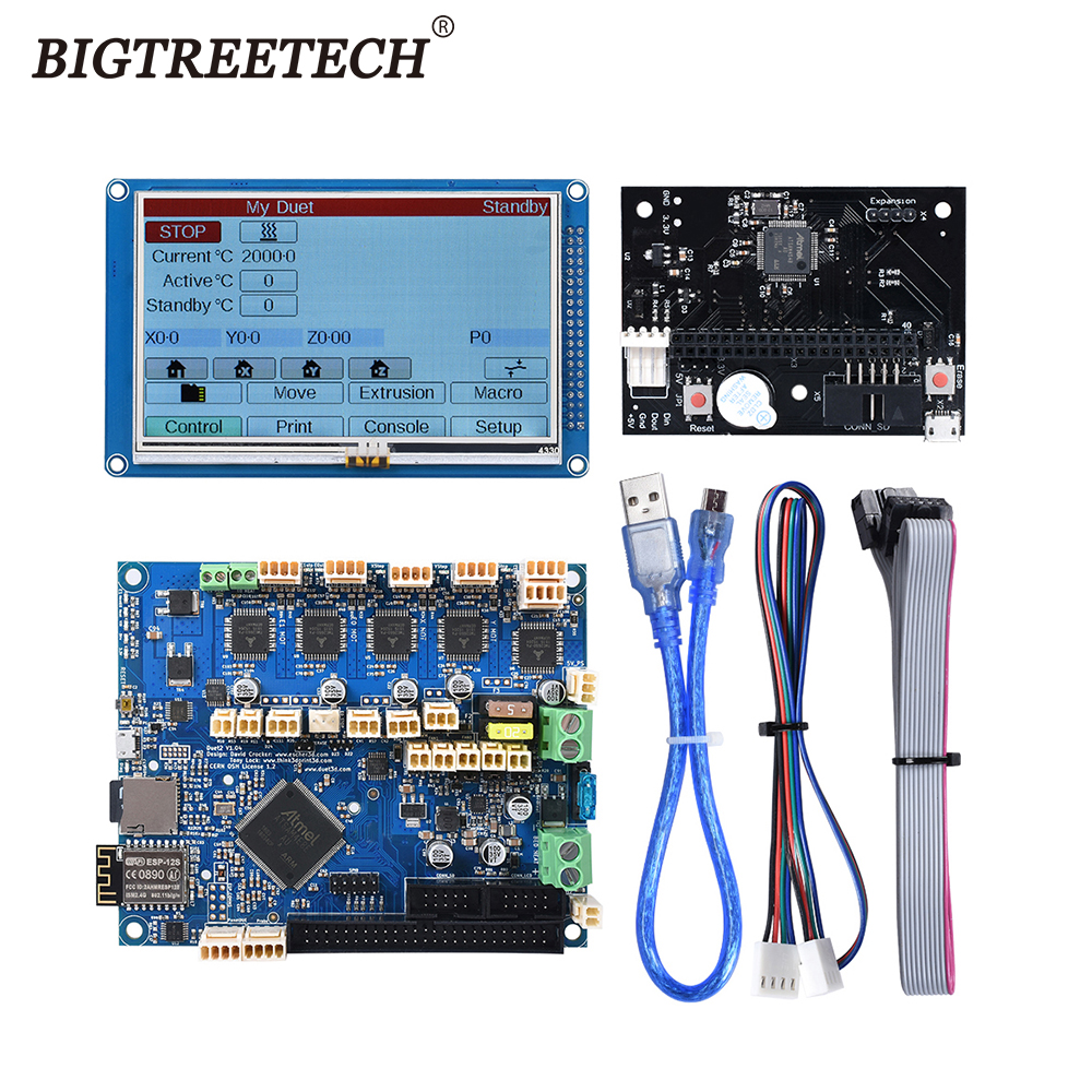 3D printer Motherboard <font><b>Cloned</b></font> <font><b>Duet</b></font> 2 <font><b>WIFI</b></font> V1.04 <font><b>WIFI</b></font> Controller Board 32 Bit With 4.3