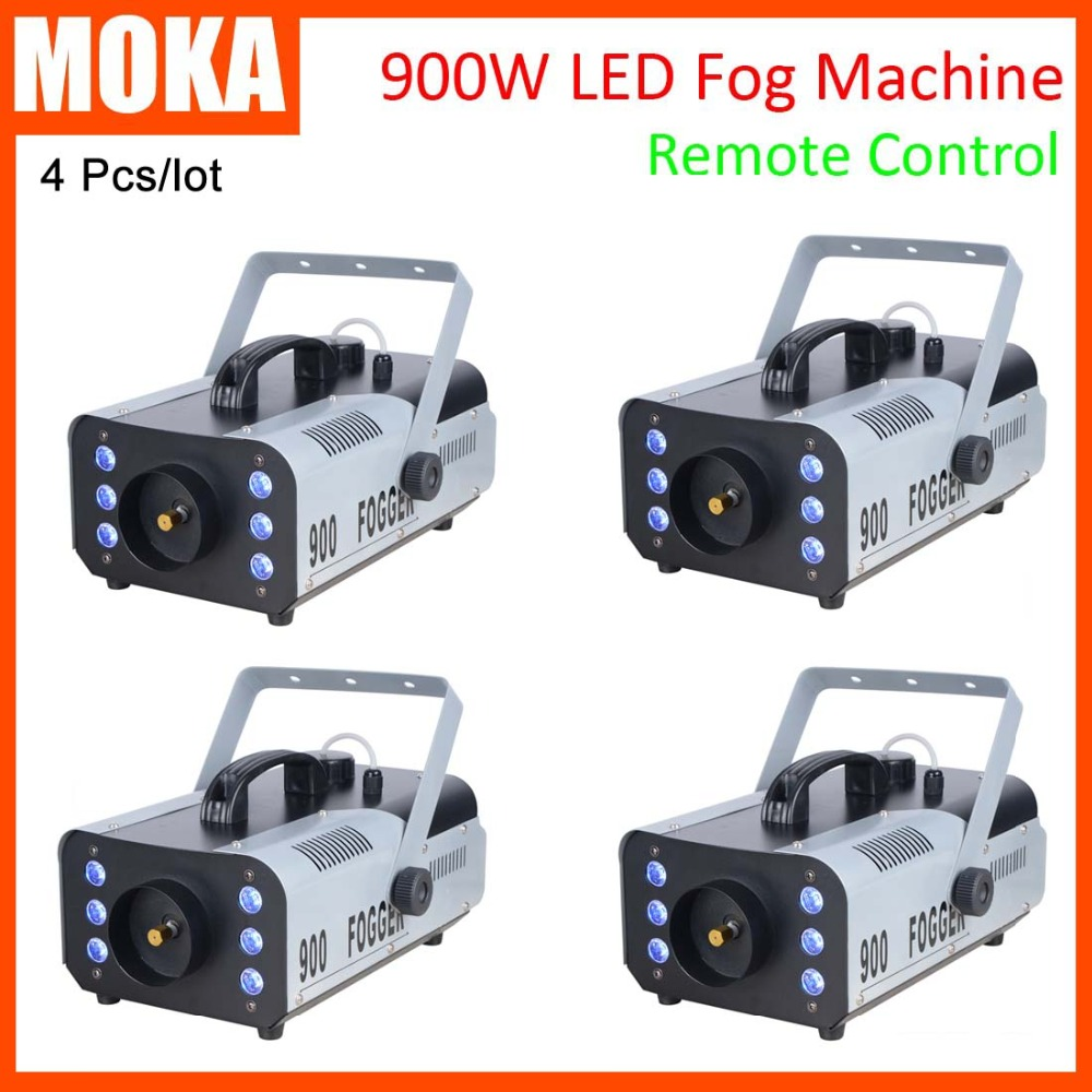 4 pcs/lot 900w Stage Effect Machine remote or wire control smoke machine heater stage fog machine high quality 900w 1l fog machine remote wire control fogger smoke machine dj bar party show stage machine