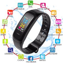 New Smart Bracelet Color Screen Blood Pressure Fitness Tracker Heart Rate Monitor  Sport for Android IOS