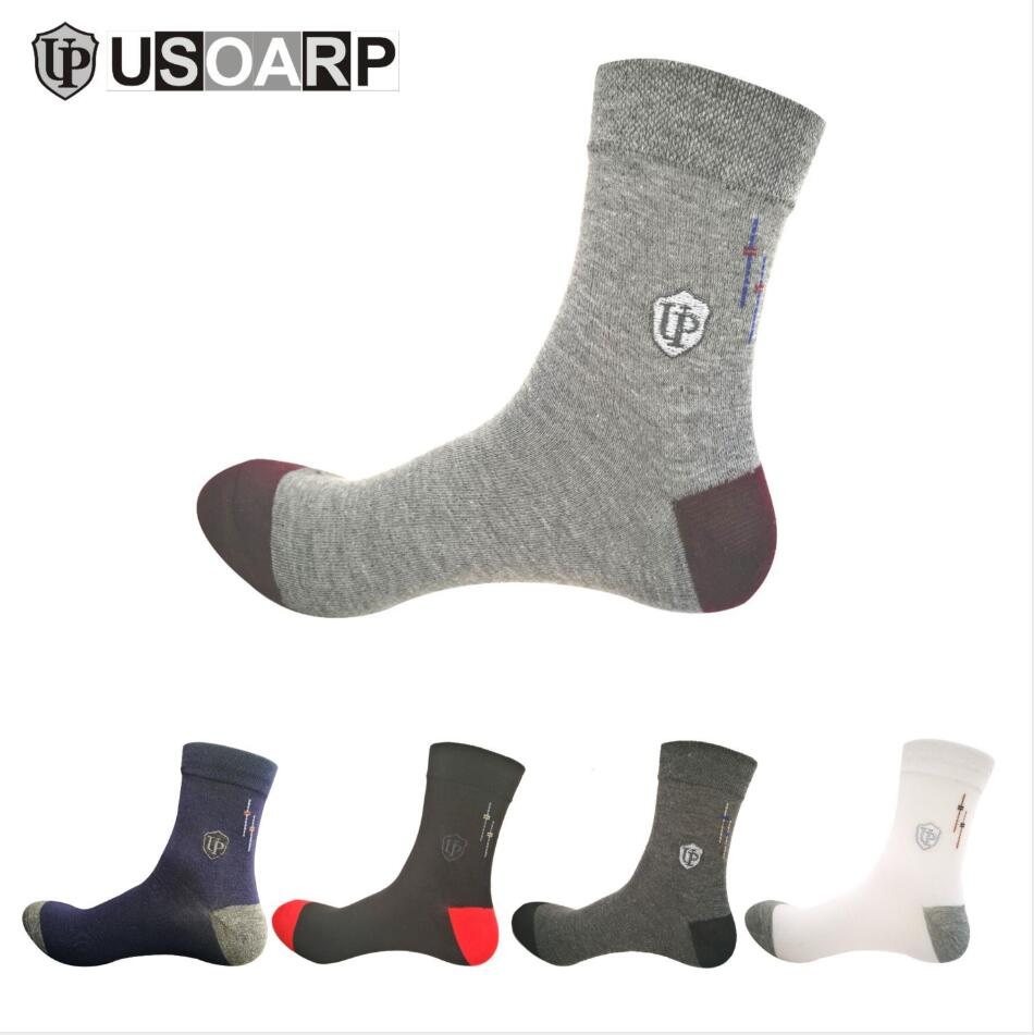 New 2019 Man's good quality cotton long   socks   wholesale casual OL working socks10pcs=5pair/lot size(EU=39-44)