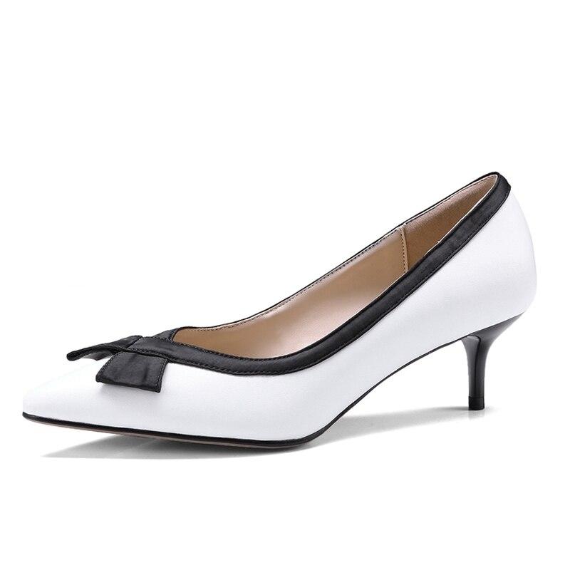 Party Boda Moda Tacones De Genuino Delgado Sexy Cuero Beige Mujeres Sfzb  negro Clásico blanco Shoes Bombas Zapatos Tacón 2018 Nueva Owqd8tZ c3f7fddbce37