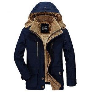 Image 5 - Nuovo Meno 40 Gradi Rivestimento di Inverno Degli Uomini Addensare Caldo Cotone Imbottito Giubbotti Con Cappuccio da Uomo Giacca A Vento Parka Più Il Formato uomini giacca