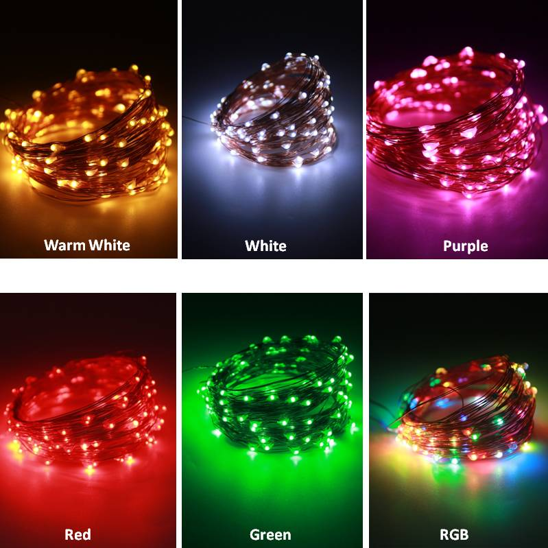 USB Operated DC5V Copper Wire Decorative LED Strip Holiday Light Fairy Garland For Christmas Tree Wedding Party in LED Strips from Lights Lighting