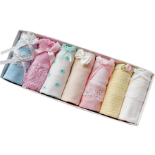 OLN 7 teile/los frauen Höschen Baumwolle druck mädchen slips frauen everyday Unterwäsche Sexy Dessous Hohe Qualität Damen Unterhose