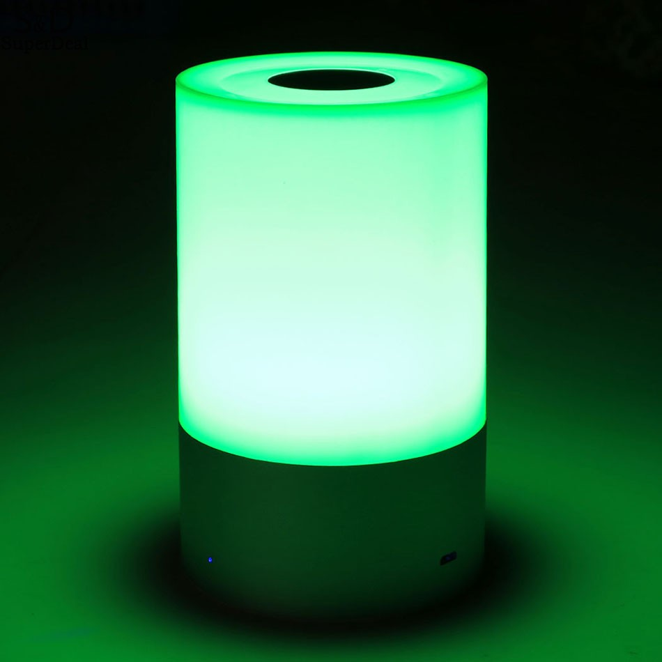 LED Dimmable Bedside Lamp Touch Sensor Control RGB Color Changing Rechargeable Smart Table Lamp #50-25 led touch color change night light motion sensor bedside lamp bluetooth speaker touch control support mobile phone app control