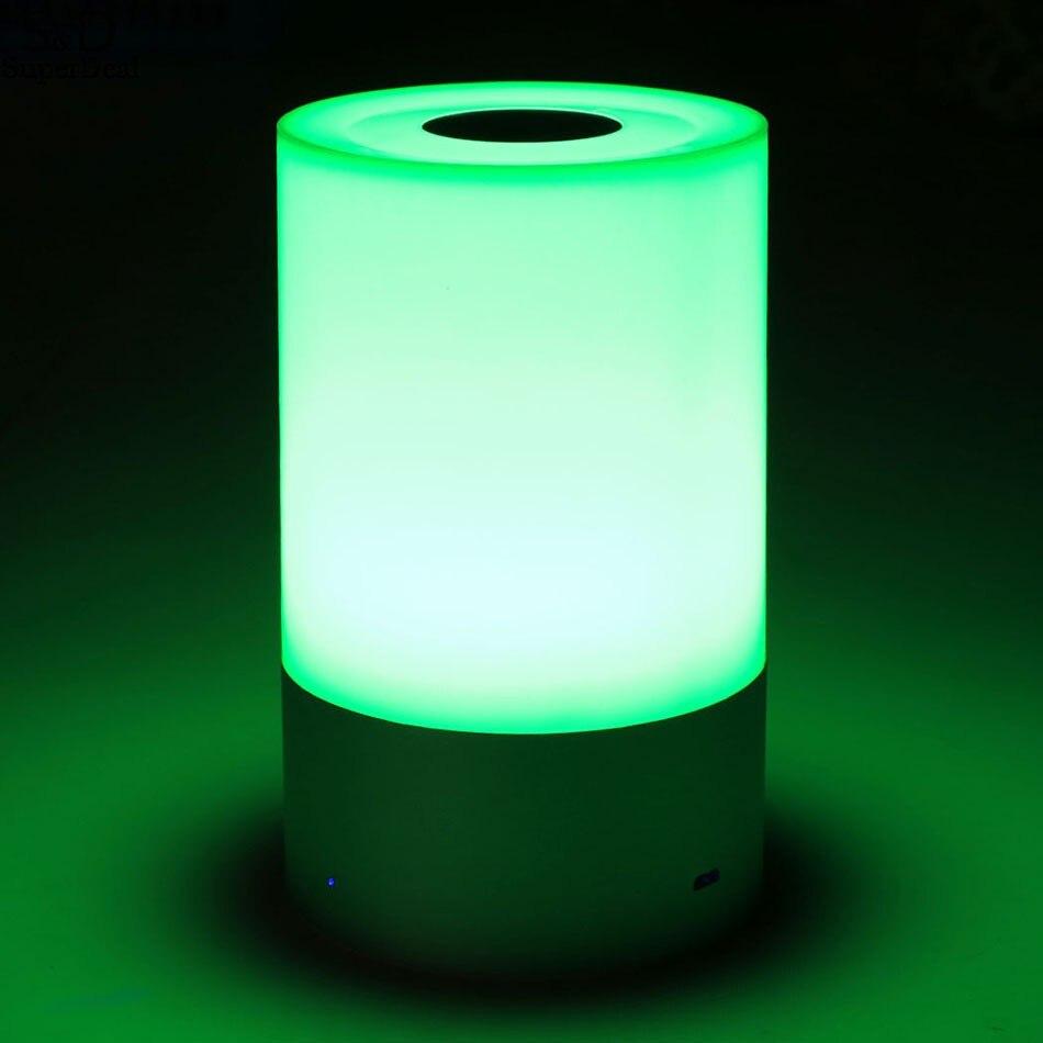 LED Dimmable Lampe De Chevet Tactile Capteur Contrôle RGB Changement de Couleur Rechargeable Tableau Intelligent Lampe #50-25