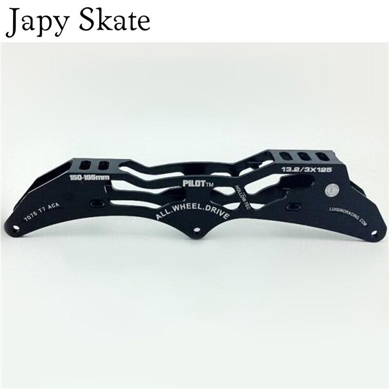 Jus japy Skate Pilote Patin de Vitesse en ligne Cadre 3X110mm/125mm En Alliage D'aluminium 7075 pour 3 Roues de Patinage De Vitesse Chaussures Bassin Base