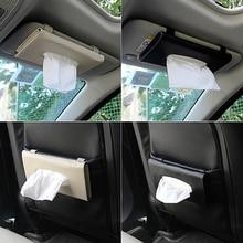 Автомобильный солнцезащитный козырек из искусственной кожи, коробка для салфеток, бумажная коробка для полотенец для Ford Focus 2 3 Fiesta Focus Mk2 Mk3 Mondeo Mk4 Fusion Ranger, аксессуары