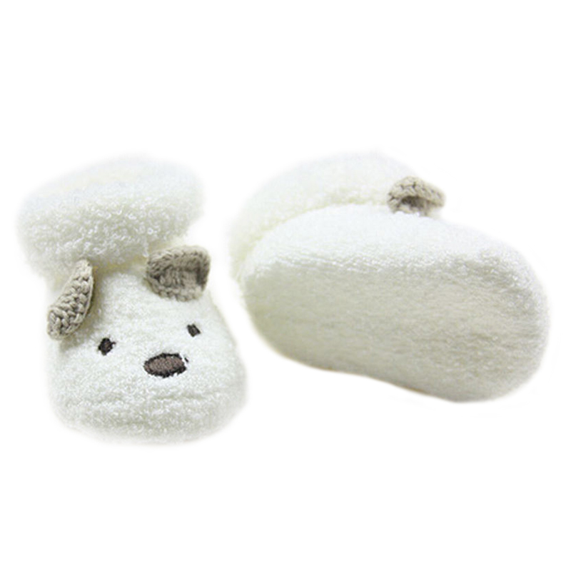 KEOL Best Sale NEW Warm Newborn Socks Unisex Baby Boy Girls Infant Cute Bear Crib Warm Shoes AU ...