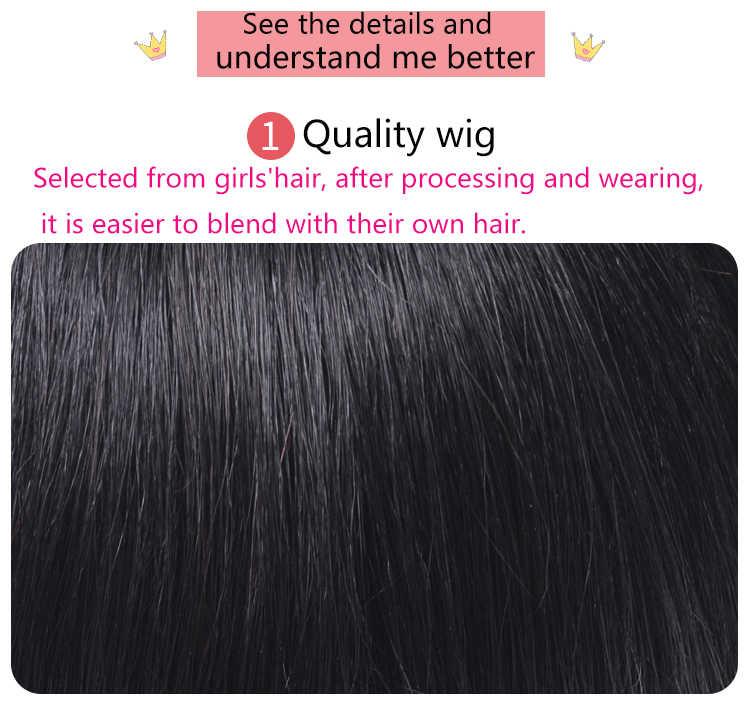 WTB Limpio frente falso flecos Clip en flequillo peluca con alta temperatura sintético de corte de la princesa